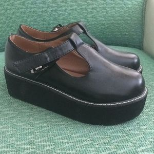 Shoes - Black Mary Jane Creepers Punk Goth